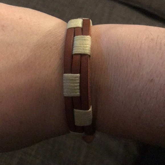 Fossil Other - Fossil brown genuine leather bracelet